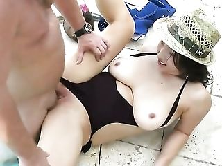Piercings with huge melons and trimmed beaver does lewd things and then gets dreamed in jizz