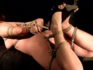 Brunette getting throat drilled for your viewing enjoyment