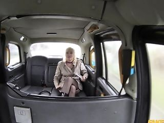Wild fucking in the back of the fake taxi with Misha Mayfair