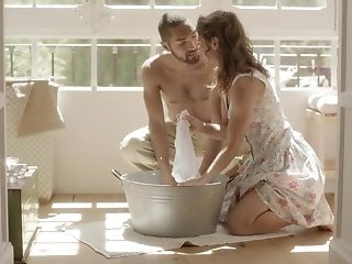 Lovely partners delight in spending time together