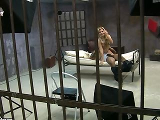 Black on blonde in prison with Bibi Noel