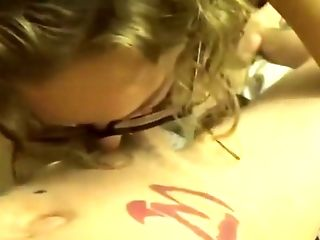 Cute Nerdy Girl With Glasses Sucks And Fucks A Cock For A Big Facial.