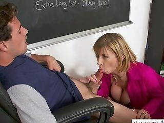 Killing hot math teacher Sara Jay gets intimate with straight A-student