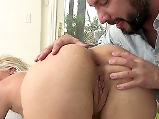 Anal Sex, Blonde, Blowjob, Clamp, Couple, Cum In Mouth, Cum Swallowing, Cumshot, Cute, Facial,