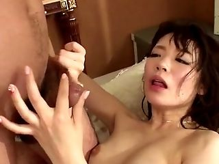 Nao Mizuki gets two cocks to play with in serious scenes