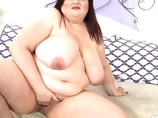 Stazi is lewd heavy BBW who goes crazy about petting her meaty twat