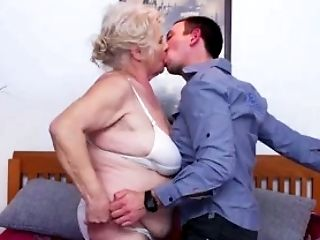 Having a passionate sex with a woman who is in her sixties