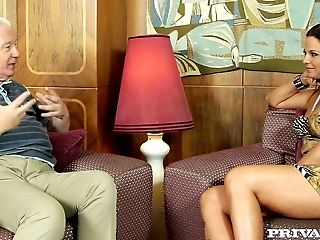 Smoking hot Simony Diamond giving interview on her career