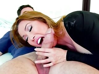 Seductive Asian sucking head Kianna Dior provides two dudes with an unforgettable pleasure