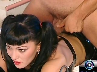 Luna Lombardi drilling all her holes