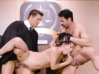 Judge gets a piece of Kristina Rose's pussy