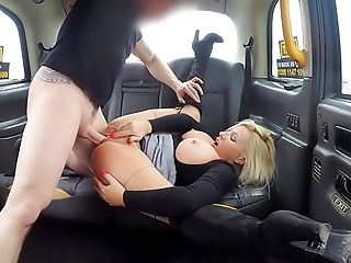 Milf fucked through ripped tights