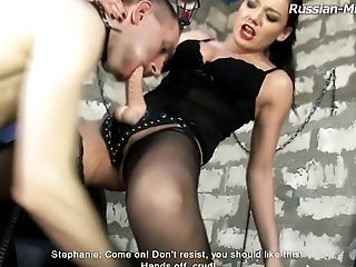 Great strap-on adventure with Mistress Stephanie and her servant