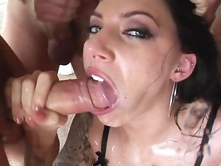 Brunette Juelz Ventura finally gets to play with big fat dicks