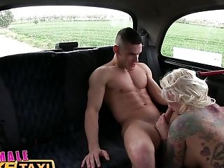 FemaleFakeTaxi Big tits blonde fucks her passenger