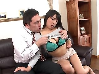 Awesome titty fuck with his bosomy sweetheart Nozomi Mikimoto