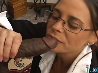 Nerdy housekeeper in glasses London River is shocked by BBC