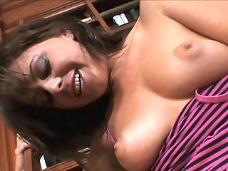 Cute brunette amateur babe Penny Flame gets cum all over her face