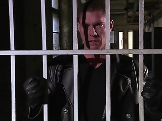 Amazing clothed sex with lusty Nataly D'angelo in the prison