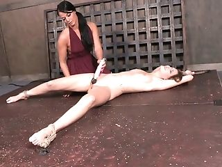 Cruel and aggressive mistress punishes anus and pussy of sweet tied up babe Ashley Lane