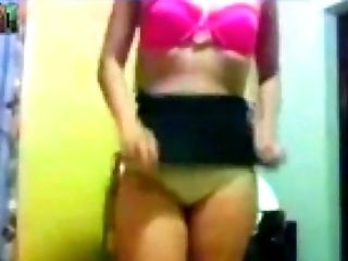 Lovely teen stripping and playing with wet soaking punani