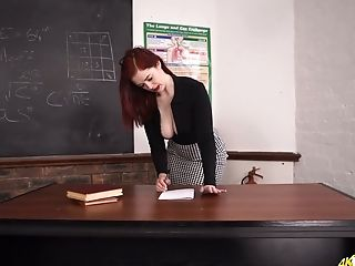 Jaw dropping teacher Jaye Rose and her captivating cleavage
