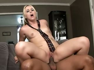 Promiscuous and hot coed Trista lusts after her neighbor's big black cock